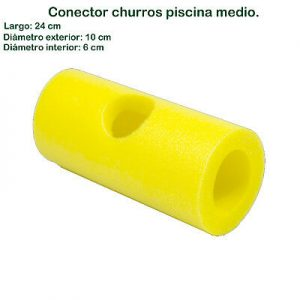 conector churro piscina